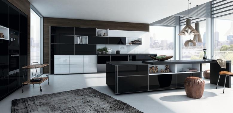 Alno Küchen, Modell AlnoVera, Küche 2017, Glasfront